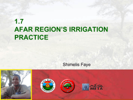 1.7 afar region`s irrigation practice