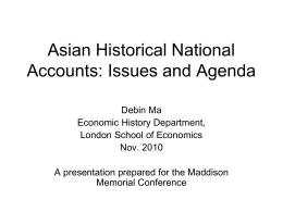 Asian Historical National Accounts: Issues and Agenda