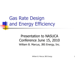 Gas Rate Design