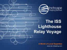 LRV journey ppt 2 - Inchcape Shipping Services