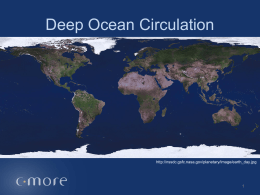Density and Oceanic Circulation - C-MORE