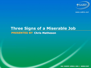 3 Signs of a Miserable Job