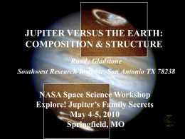 Jupiter Versus the Earth: Composition & Structure