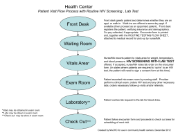 Patient Visit Flow Process with Routine HIV Screening, Lab Test