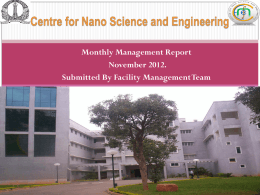 Facilities Management Report