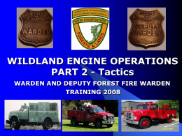 Wildland Engine Operations