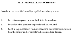SELF PROPELLED EQUIPMENT SAFETY