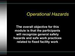 Operational Hazards - Brownfields Toolbox