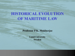 Public and Private Maritime Law