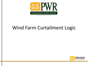 Wind Farm Curtailment Logic