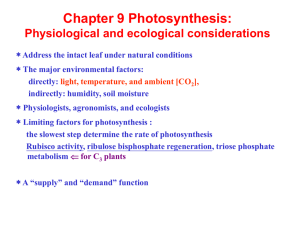 Physiological and ecological considerations