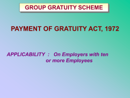 gratuity schemes - Insure And Invest