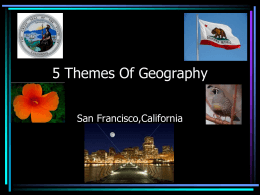 5 Themes Of Geography - Edison`s 6th Grade Weebly Page