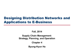 Designing Distribution Networks and Applications to E