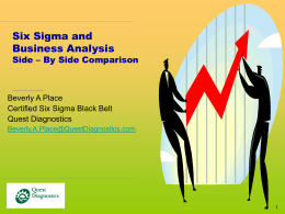 What Is Six Sigma? - New Jersey IIBA Chapter