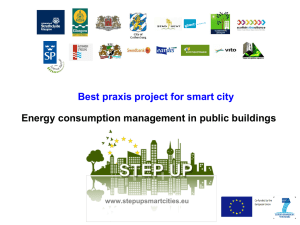 Energy consumption management in public buildings