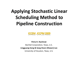 Sample presentation - Linear scheduling