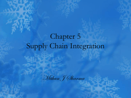 Chapter 5 Supply Chain Integration