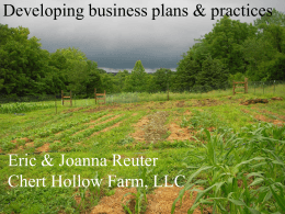 Small Farm Business Plans