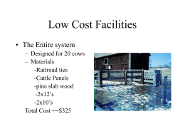 Low Cost Facilities ( 26 slides, 2787 KB )
