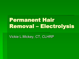 Permanent Hair Removal - Electrolysis