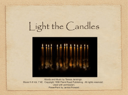 Light the Candles - Bulletin Boards for the Music Classroom