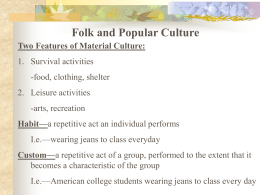 Folk and Popular Culture - Mounds View School Websites