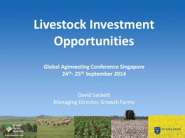 Livestock Investment Opportunities, Global AgInvesting Conference