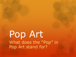 Pop Art Presentation