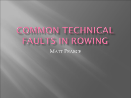 Common technical faults in rowing