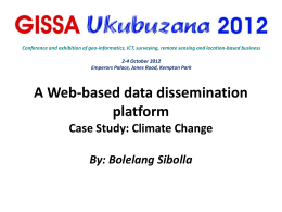 A Web-based data dissemination platform Case Study
