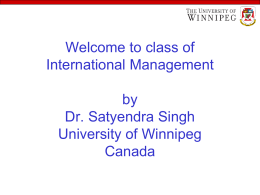 Introduction to International Management