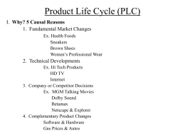 Product Life Cycle (PLC)