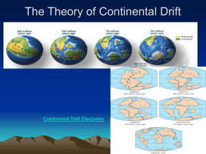 ALFRED WEGENER THEORY OF CONTINENTAL DRIFT