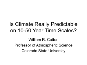 Is Climate Really Predictable on 10-50 Year Time Scales?
