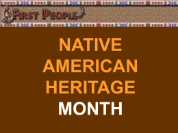Native American Heritage Month PowerPoint