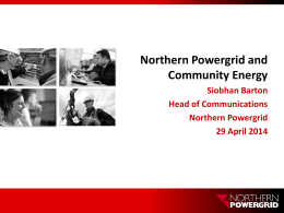 Northern Powergrid and Community Energy