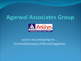 Agarwal Associates Group - Aditya Urban Homes, Aditya World City