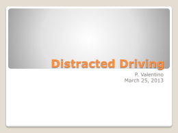Distracted Driving PowerPoint