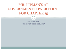 APGOV Power Point 15 - Long Branch Public Schools