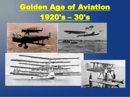 Aviation in the 1920`s