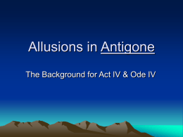 Allusions in Antigone