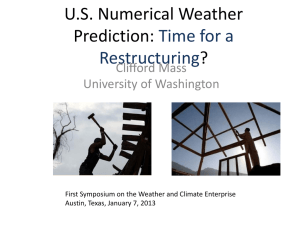 U.S. Numerical Weather Prediction: Time for a Restructuring?