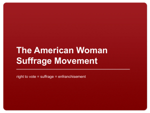 Background on Woman Suffrage