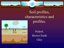 Soil profiles, characteristics and profiles.