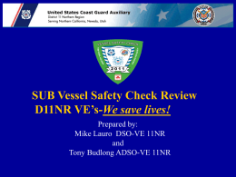 2011_SUB_VSC_Review - United States Coast Guard Auxiliary