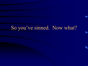 So you`ve sinned. Now what?