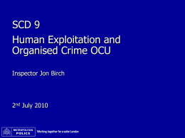 Human Exploitation and Organised Crime OCU