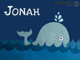 Jonah 3:1 (NLT) - Mission Point Church