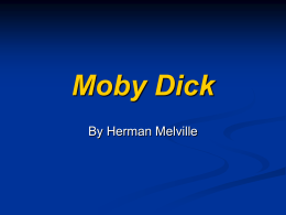 Main Characters Moby Dick
